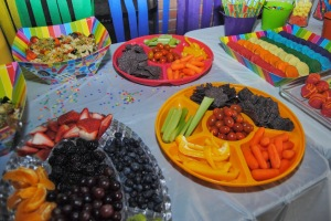 Rainbow party food