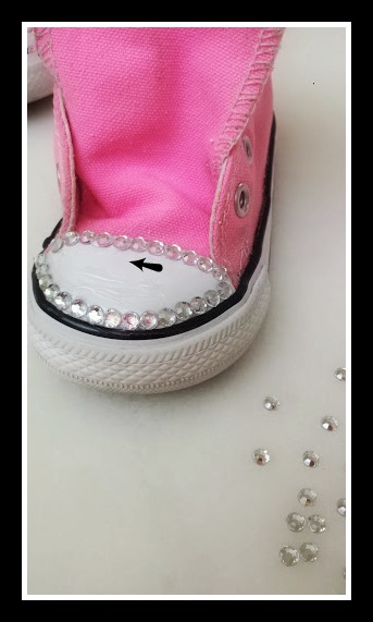 hoe to bedazzle converses