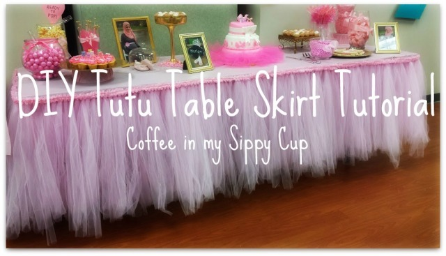diy tutu tableskirt