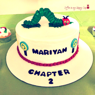 bookworm party cake