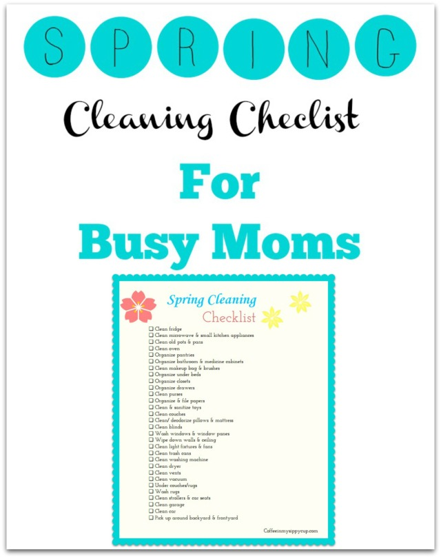 Spring cleaning checklist for busy moms