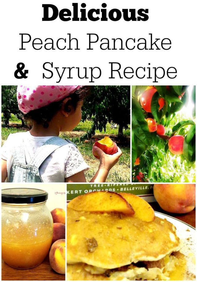 delicious peach pancake and syrup recipe