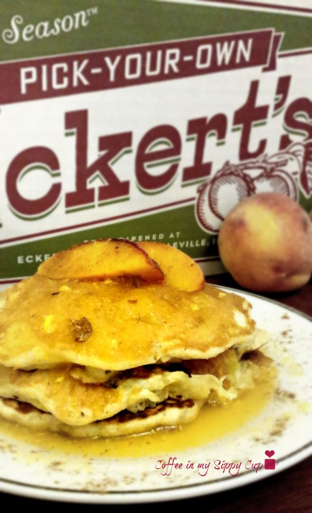 Delicious peach pancake recipe